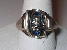 JOSTEN 10KW GOLD SAPPHIRE FRUITA MONUMENT CLASS RING 4.75 Grams 1977 SZ 7.75