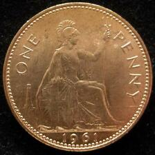 Great Britain 1 Penny 1961  RED BU