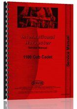 International Harvester Cub Cadet 1100 Lawn & Garden Service Manual