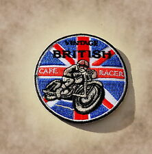 Patch, ricamate, badge, Cafe Racer, Inghilterra, BSA, Norton, Triumph, VINTAGE