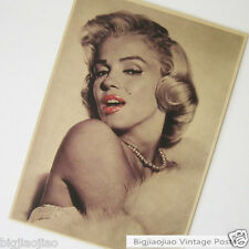Marilyn Monroe Hot Lips Vintage Kraft Paper Poster Bar Coffee Shop Decorate