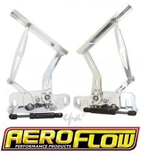 AF64-4122 BILLET POLISHED ALLOY BONNET HINGES [1971-84 HOLDEN HQ-HJ-HX-HZ-WB]