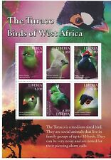 Liberia - Birds of West Africa, The Turaco, 2016 - 1554 Sheetlet MNH