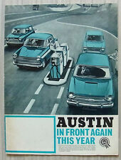 AUSTIN CAR RANGE Sales Brochure 1966 #2317  Mini, A40, 1100, A60, 1800 & A110