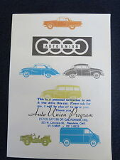 DKW Auto Union 1959 ? Sales Brochure Saxomat Automatic Clutch Color Fold Out