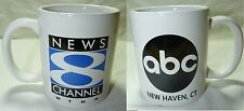 ABC NEW HAVEN CT NEWS 8 COFFEE CUP MUG SPORTS WEATHER DRINK WTNH ADVERTISING !!
