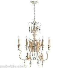 French Country Chateau Motivo 6 Light Chandelier Vintage Style 04170 Cyan Design