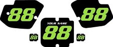 1988 Kawasaki KX500 Custom Pre-Printed Backgrounds Black with Green Numbers