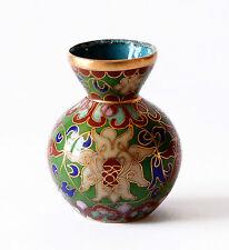 Vaso Cloisonnè Rame Cinese Oriental Ancient Vintage Antique Vase Cina H.4cm