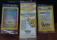 Pokemon Movie Promo Ancient Mew plus All 3 legendary birds Sealed +Bonus