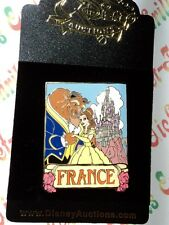 Disney Auctions Beauty & the Beast Belle Travel in France Castle Poster LE Pin