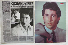 Richard Gere Michael Jackson Europe Joey Tempest clippings cuttings Sweden 1980s