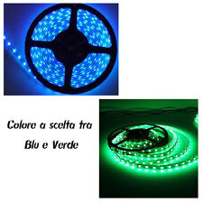 STRISCIA 60 LED 1 METRO  12V Blu o Verde LED TUNING CAR led strip
