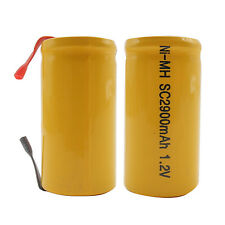 2PCS Sub C 2900mAh 1.2V Ni-MH Rechargeable Battery Tabs Power Tools RC Orange