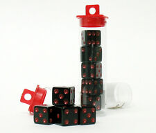 10 Bunco Dice Game - Black w/ Red (Family Night Party Set)