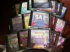 CHART TOPPERS KARAOKE 25 DISC SET LOT CD+G MULTIPLEX GREAT STARTER SET 225 SONGS