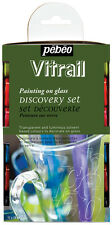 Pebeo Discovery Set VITRAIL Transparent Stained Glass Paint - 12 x 20ml Pots