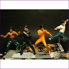 "HOT- Bruce Lee Kung Fu Collection 4"" Flexible Action Figure Toy XMAS GIFT"