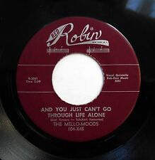 MELLO-MOODS 45 And you just can't go../ I couldn't sleep a wink..RED ROBIN w4404