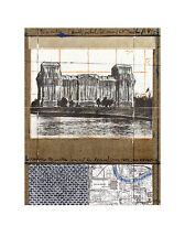 Christo Reichstag XII Poster Kunstdruck Bild Lichtdruck 40x30cm