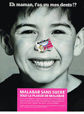 PUBLICITE ADVERTISING 025  1990  MALABAR  chewing-gum sans sucre