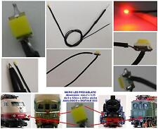 N.2 MICRO LED 12V-18V SMD mm.2x1,25 ROSSO per LUCI LOCOMOTORI DC-DCC SCALA N-HO