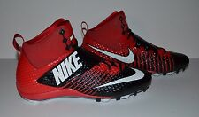 Nike Force Lunarbeast Pro 3/4 D Football Cleat - Men's Size 11.5 - Red Black
