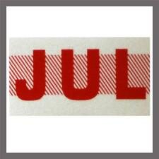 July Month California DMV License Plate Red Registration Sticker Tag YOM CA