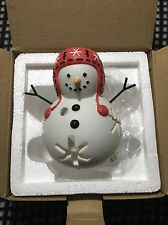 PartyLite SNOW JR Family SNOWMAN Tealight Candle Holder NIB-P91141