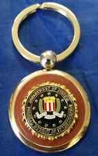 """DOJ Federal Bureau of Investigation Gold Key Chain w BLACK FBI Emblem 3"""" X 1.5"""""""