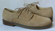 ROCKPORT Women's 7M Suede Tan Leather Lace Up Oxfords Dress Casual Shoes Pebbled