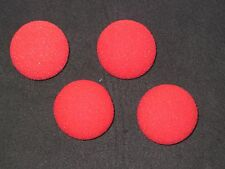 "Sponge Balls 2"" Size - 4 Red Soft Sponge Balls - Props For Close Up Magic Tricks"