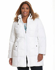 NEW LANE BRYANT PLUS SIZE WHITE QUILTED PUFFER COAT SZ 18/20