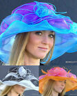 NEW Women's Kentucky Derby Hat Special Race Alluring Shimmering Organza Two Tone