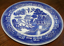 "Wellville China Willow Pattern Blue 10 1/2"" Dinner Plate"