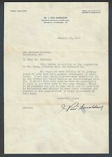 1940 Pittsburgh Pa Letter Only Re: Anesthesia In Dentistry From Dr Donaldson