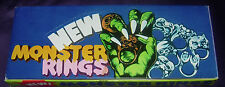 NEW MONSTER RINGS  FULL BOX   HONG KONG  C. 1970'S  CLASSIC TOY VINTAGE ITEM
