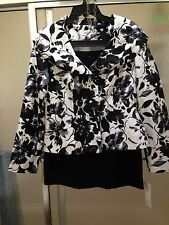 NWT Isabella 2 Piece Skirt Set; Multicolor; Sz 8; Long Sleeve; Polyester $60