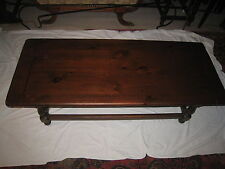Vintage Solid Pine Coffee Table Ethan Allen Old Tavern Style