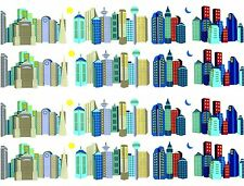 Mrs Grossman's Cityscape City Skyline Design Lines Scrapbook Stickers 4 Sheets