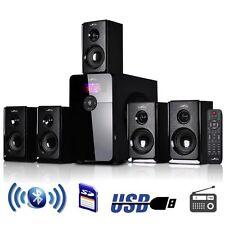 beFree Sound 5.1 Channel Surround Sound Bluetooth Speaker System USB/SD FM Radio