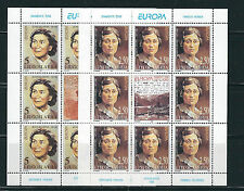 YUGOSLAVIA 1996 FAMOUS WOMEN WRITERS complete sheetlets of 9 (Sc 2336-7) VF MNH