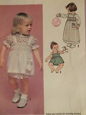 VTG 79 SIMPLICITY 8951 Tdlr Girls Dress Pinafore or Top & Panties PATTERN 3T UC