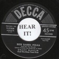 Grady Martin POLKA POP 45 (Decca 27838) Beer Barrel Polka/Stardust M-