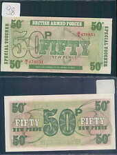 BRITISH ARMED FORCES GREAT BRITAIN 50 NEW POUND 1972 UNC (rif. 98)
