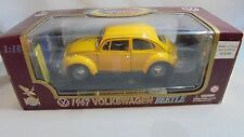 Road Legends 1:18 Collection 1967 Volkswagen Beetle Yellow  Die Cast model MIB