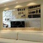 7pcs Fashion 3D Irregular Mirror Effect Wall Stickers Art Mural Decal Home Decor