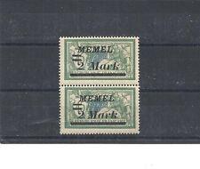 Memel, Litauen 1922 Michelnr: 88 Aufdruckfehler II **,postfrisch,Michelwert € 25