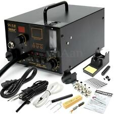 4 in 1 LED Soldering Iron Station SMD Rework Desoldering Hot Air Gun + 4 Nozzles