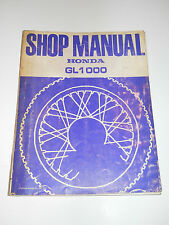 HONDA GL1000 OFFICIAL SHOP SERVICE REPAIR MANUAL GOLDWING